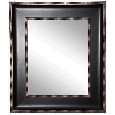 "Willards Black Silver 29 1/4"" x 35 1/4"" Wall Mirror"