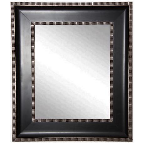"""Willards Black Silver 29 1/4"""" x 35 1/4"""" Wall Mirror"""