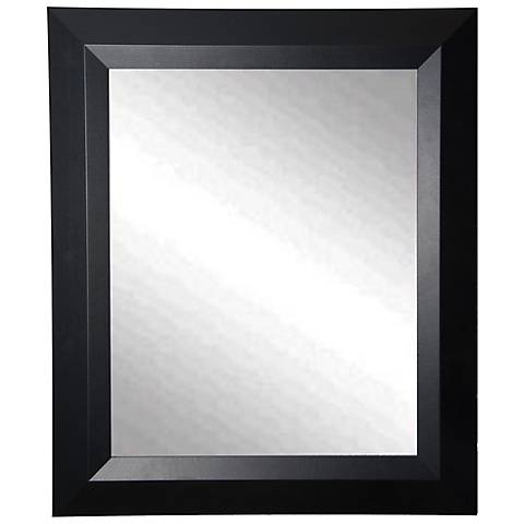 "Larose Solid Black Angle 29 1/2"" x 35 1/2"" Wall Mirror"