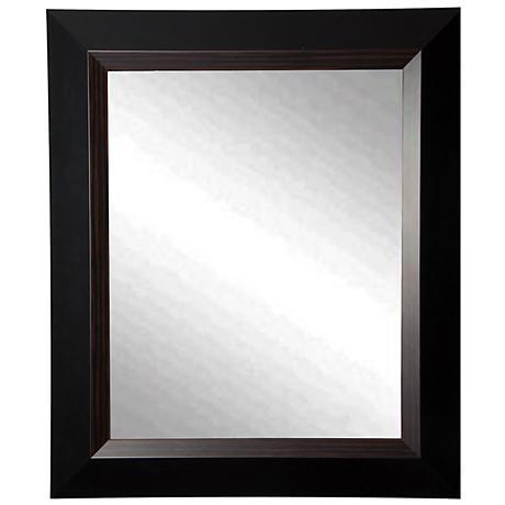 "Maynerd Brown Lining 21 3/4"" x 25 3/4"" Wall Mirror"