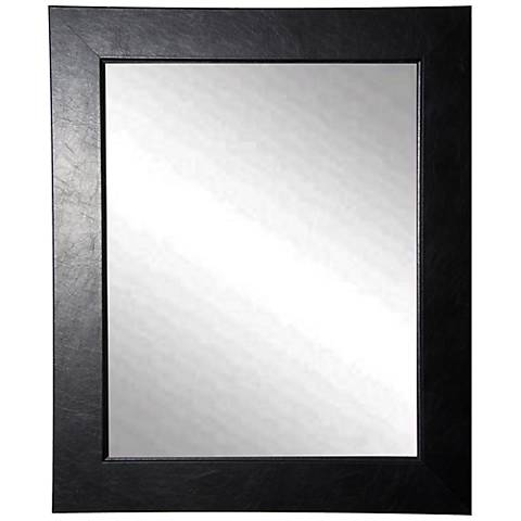 "Wisner Black Superior 26"" x 32"" Wall Mirror"