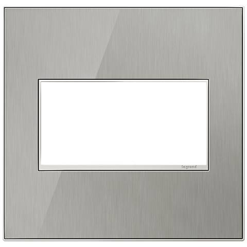 adorne® 2-Gang Brushed Steel Wall Plate
