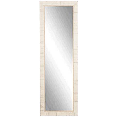 "Idabel Tuscan Ivory 25"" x 63"" Full Length Floor Mirror"