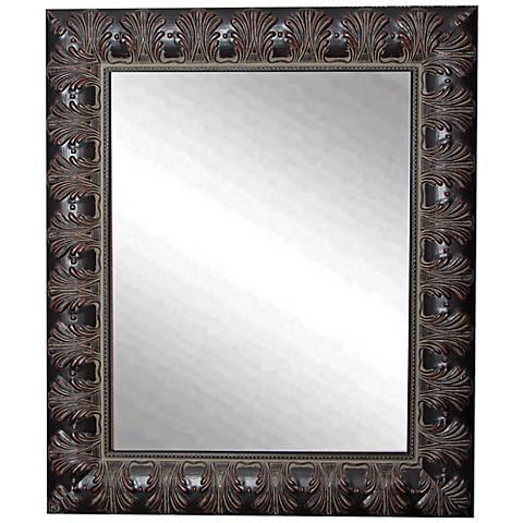 """Grantly Mahogany Accent 27 1/2"""" x 33 1/2"""" Wall Mirror"""