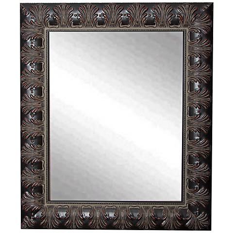 "Grantly Mahogany Accent 30 1/2"" x 36 1/2"" Wall Mirror"