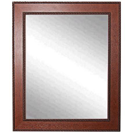 """Minden Western Rope 28"""" x 34"""" Wall Mirror"""