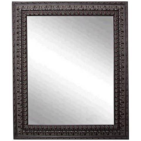 "Redding Dark Mahogany 29 1/2"" x 35 1/2"" Wall Mirror"