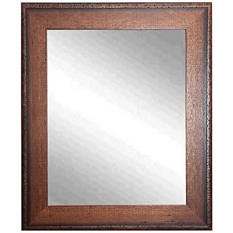 "Timber Estate Walnut 26 1/2"" x 32 1/2"" Wall Mirror"