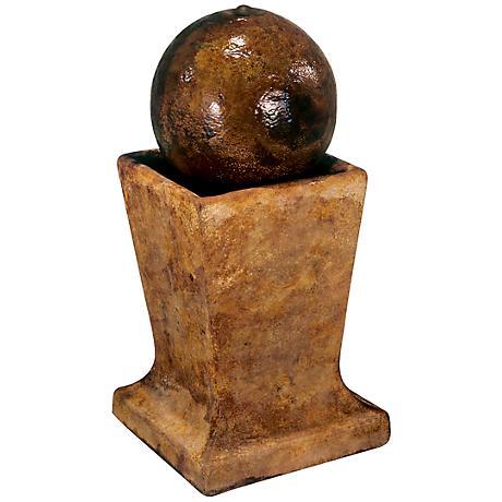 Henri Studio Relic Lava Sphere Low Pedestal Fountain