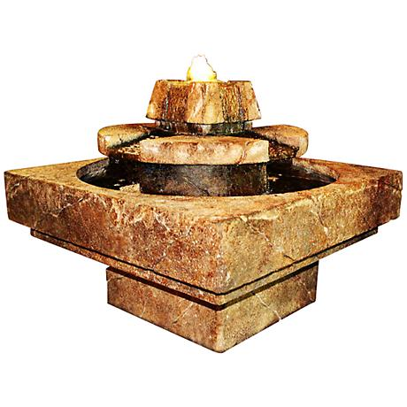 Henri Studio Relic Elegante Stone Edge Cascade Fountain