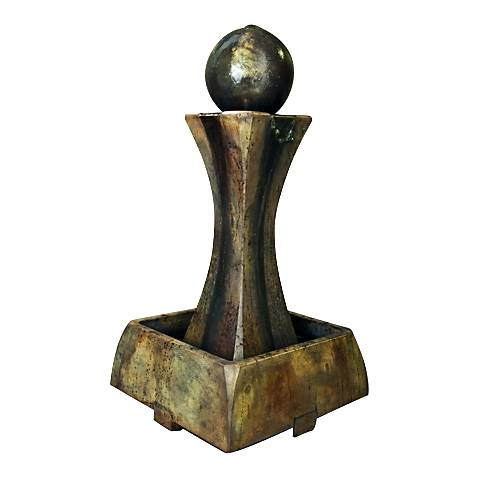 "Henri Studio 37"" High Relic Nebbia Low Hourglass Fountain"