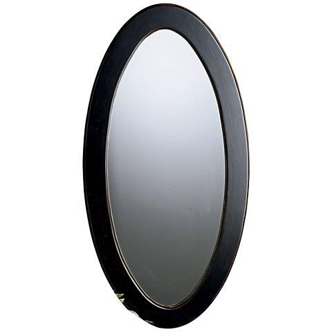 "Charleston Cafe Noir 19 1/2"" x 38"" Oval Wall Mirror"