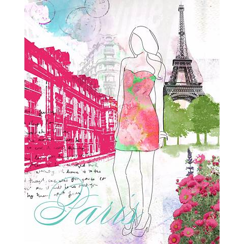 "City Girl - Paris 24"" High Canvas Wall Art"
