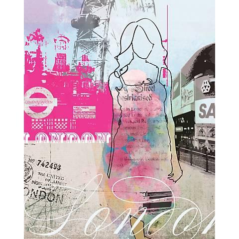"City Girl- London 24"" High Canvas Wall Art"