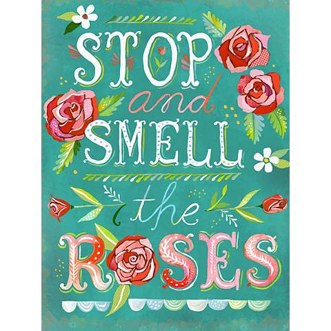 """Stop and Smell The Roses 24"""" High Canvas Wall Art"""