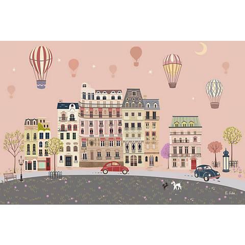 "Sweet Street Balloons at Dusk 24"" Wide Canvas Wall Art"