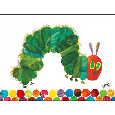 """Eric Carle's The Very Hungry Caterpillar 24"""" Wide Wall Art"""