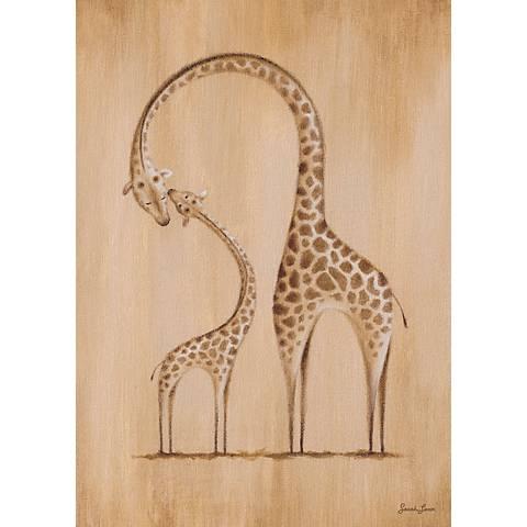 """Safari Kisses - Giraffe 14"""" High Canvas Wall Art"""