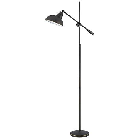 Brewton Oil Rubbed Bronze Adjustable Metal Floor Lamp