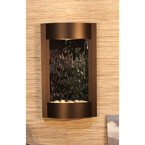 Serene Waters Mirror Bronze Wall Fountain