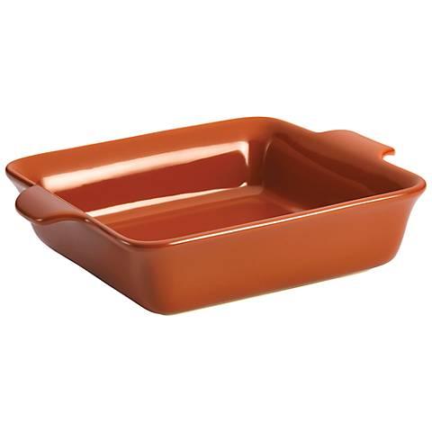 Anolon Vesta Stoneware Persimmon Orange Square Baker