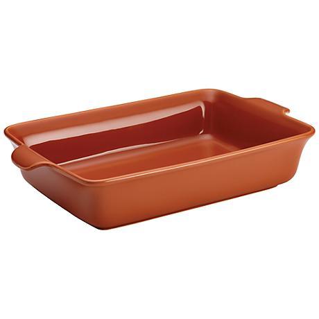 Anolon Vesta Stoneware Persimmon Orange Rectangular Baker
