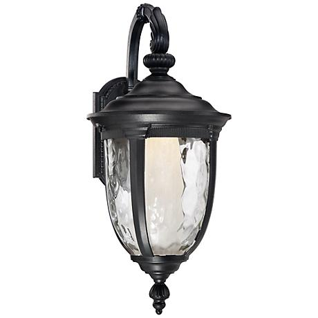 "Bellagio™ 20 1/2"" High LED Black Outdoor Wall Light"