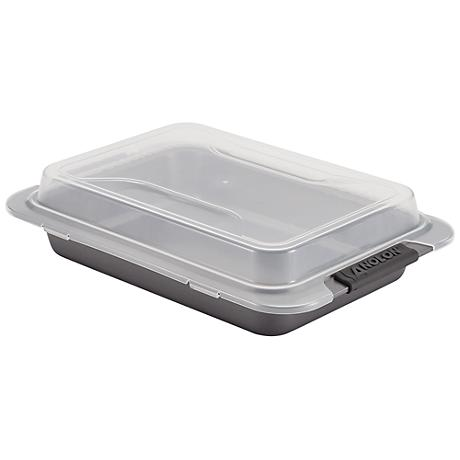 """Anolon Advanced Gray 9"""" x 13"""" Nonstick Covered Cake Pan"""