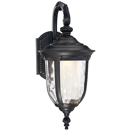 "Bellagio™ 16 1/2""H Black Down Arm LED Outdoor Light"