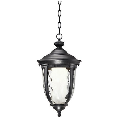 "Bellagio™ 18"" High LED Black Outdoor Hanging Light"