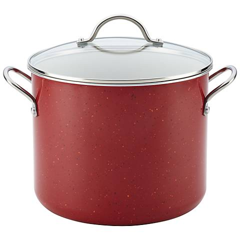 Farberware Speckled Red Nonstick 12-Qt Covered Stockpot
