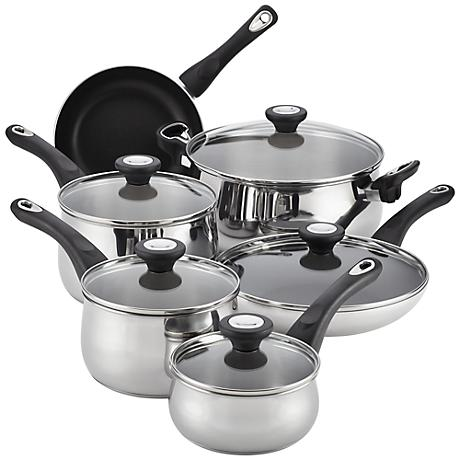Farberware Stainless Steel 14-Piece Cookware Set