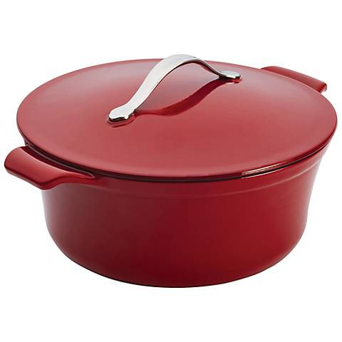Anolon Vesta Paprika Red 5-Quart Round Covered Casserole
