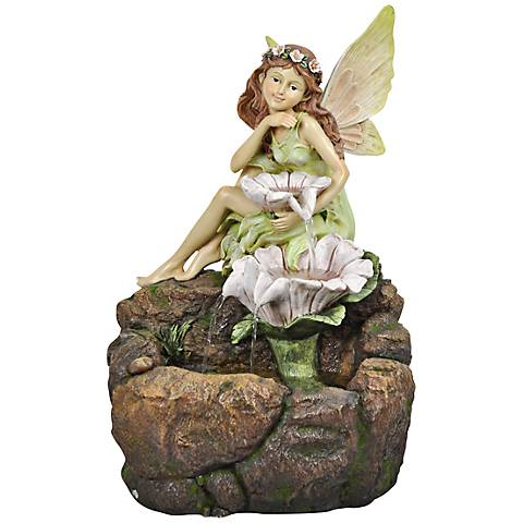 "Floral Fairy LED Indoor - Outdoor 23"" High Floor Fountain"