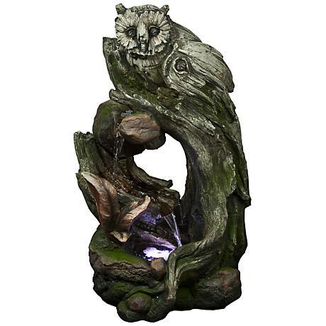 Rainforest Owl LED Indoor - Outdoor Fountain