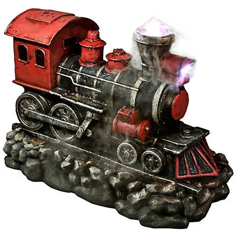 """Red Locomotive 26"""" High Indoor - Outdoor Fountain"""