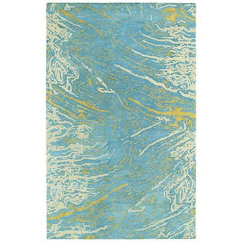 Kaleen Brushstrokes BRS01-17 Light Blue Wool Area Rug