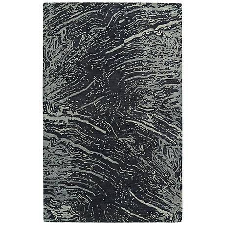 Kaleen Brushstrokes BRS01-38 Gray Wool Area Rug