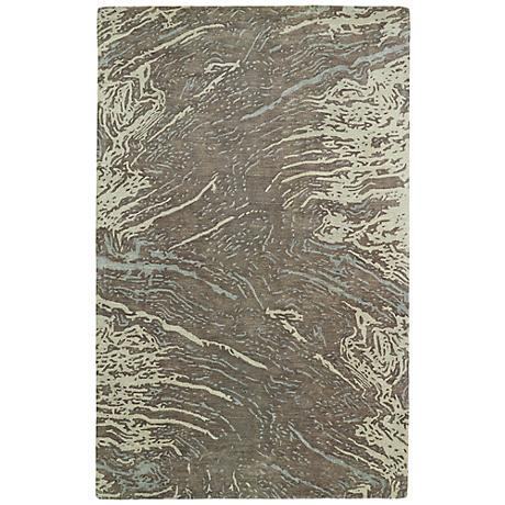Kaleen Brushstrokes BRS01-49 Light Brown Wool Area Rug
