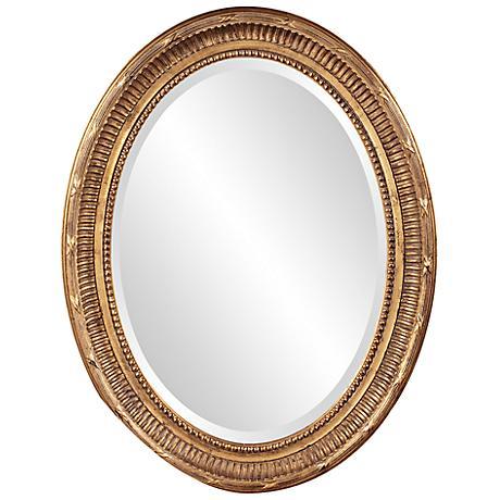 "Howard Elliott Nero 26"" x 34"" Country Gold Oval Mirror"