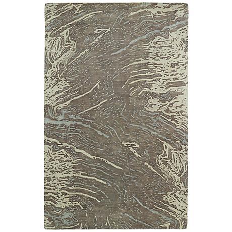 Kaleen Brushstrokes BRS01-49 Light Brown Wool Area Rug