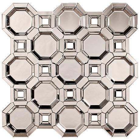 "Howard Elliott Crawford 43"" Square Accents Wall Mirror"