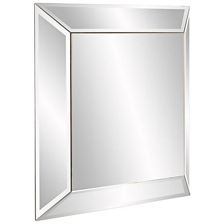 "Howard Elliott Vogue 30"" Square Clear Outward Wall Mirror"