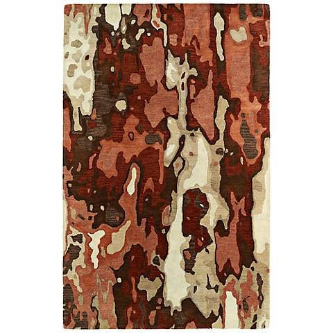 Kaleen Brushstrokes BRS05-30 Red Wool Area Rug