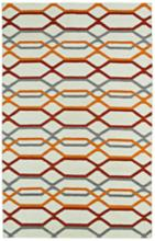 Kaleen Glam GLA01-01 5'x8' Red and Orange Wool Area Rug