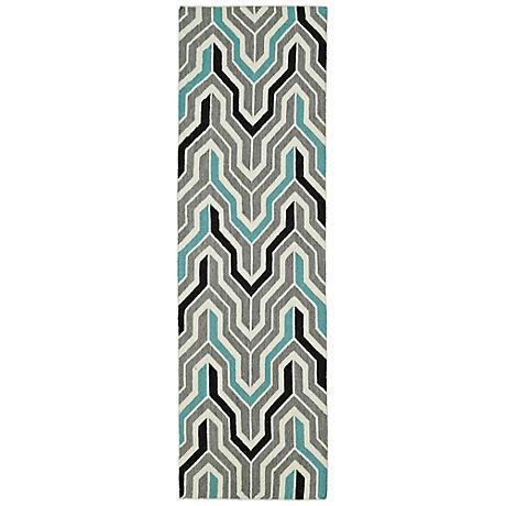 Kaleen Glam GLA03-75 Flatweave Gray Wool Area Rug
