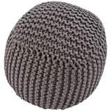 Jaipur Forda Brown Jute Knit Pouf Ottoman