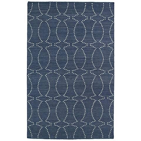Kaleen Glam GLA07-75 Dark Gray Flatweave Wool Area Rug