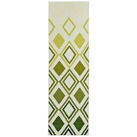 Kaleen Glam GLA09-50 Gradient Green Flatweave Wool Area Rug