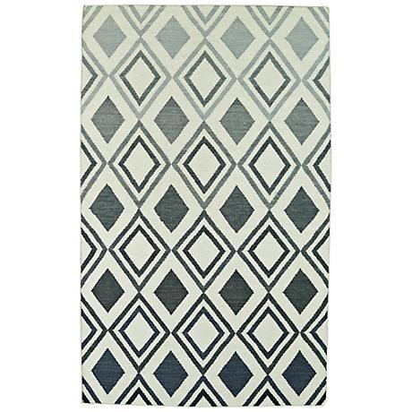 Kaleen Glam GLA09-75 Gradient Gray Flatweave Wool Area Rug